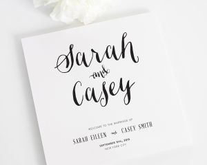 Stylish Script Wedding Programs