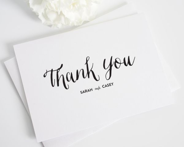 Stylish Script Thank You Cards