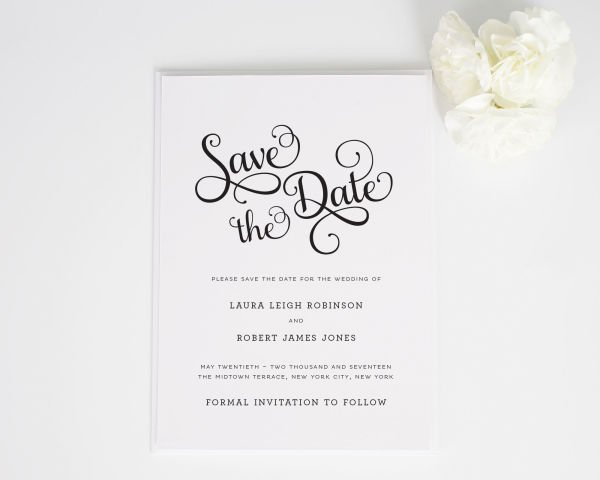 Sweet Romance Save the Date Cards