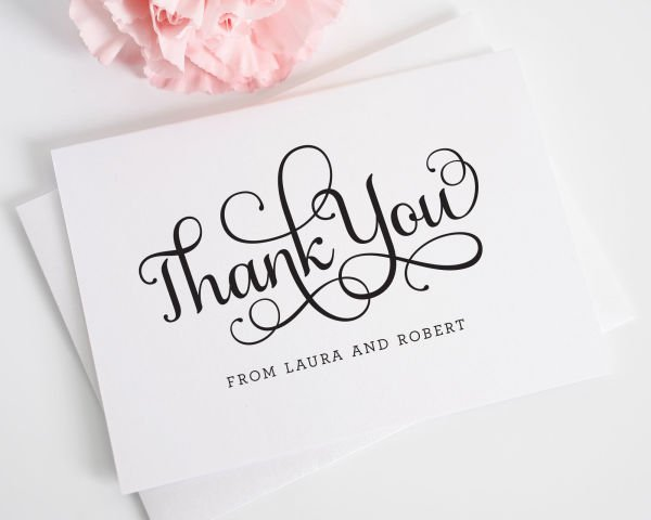 Sweet Romance Thank You Cards