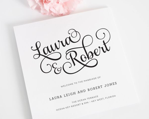 Sweet Romance Wedding Programs