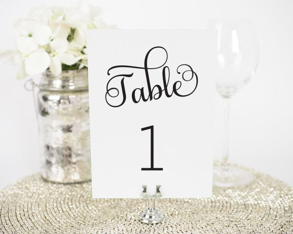Sweet Romance Table Numbers