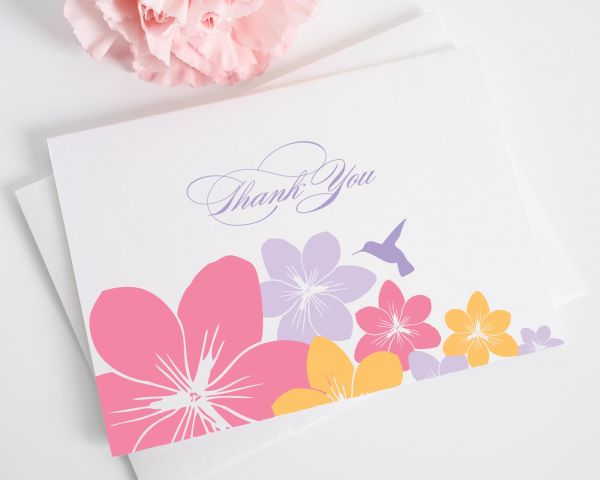 Tropical Hummingbird Thank You Cards
