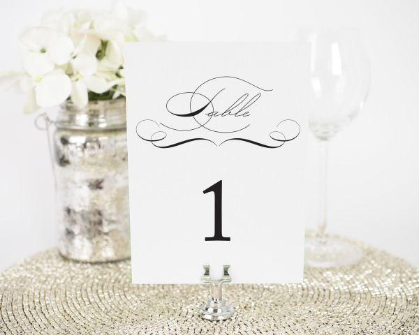 Vintage Class Table Numbers