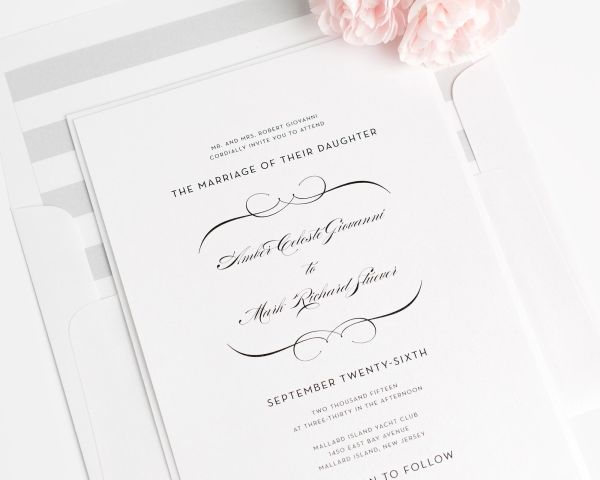 French Romance Wedding Invitations