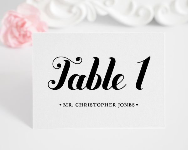 Whimsy and Script Place Cards