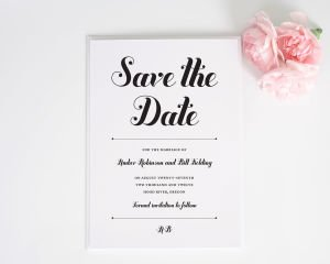Whimsy and Script Save the Date Cards