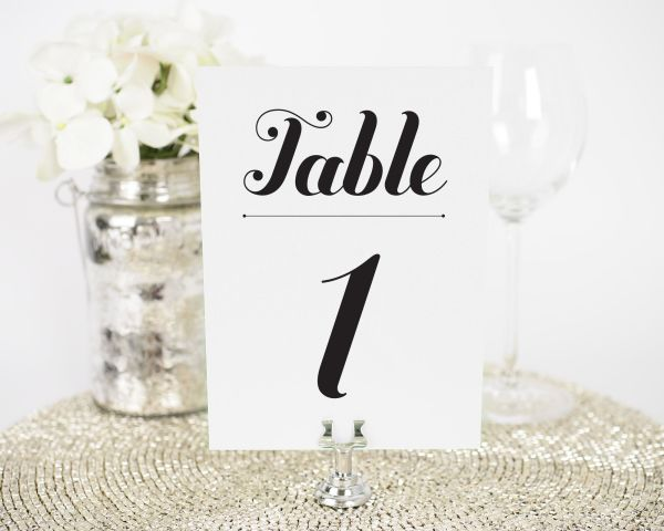 Whimsy and Script Table Numbers