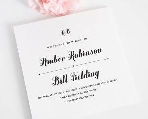 Whimsy and Script Wedding Programs