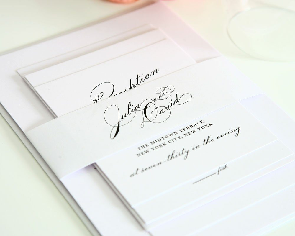 Simple wedding invitation suite with large names wedding for Simple wedding invitations with pictures