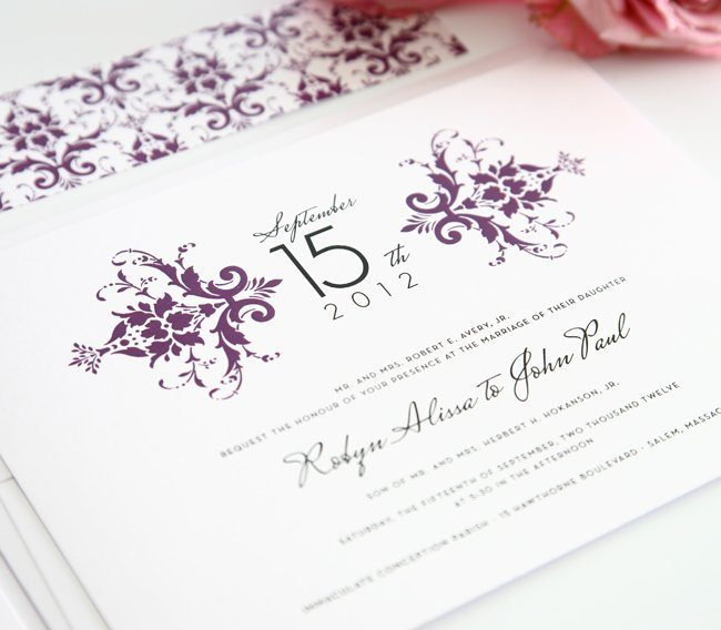 Our elegant damask wedding
