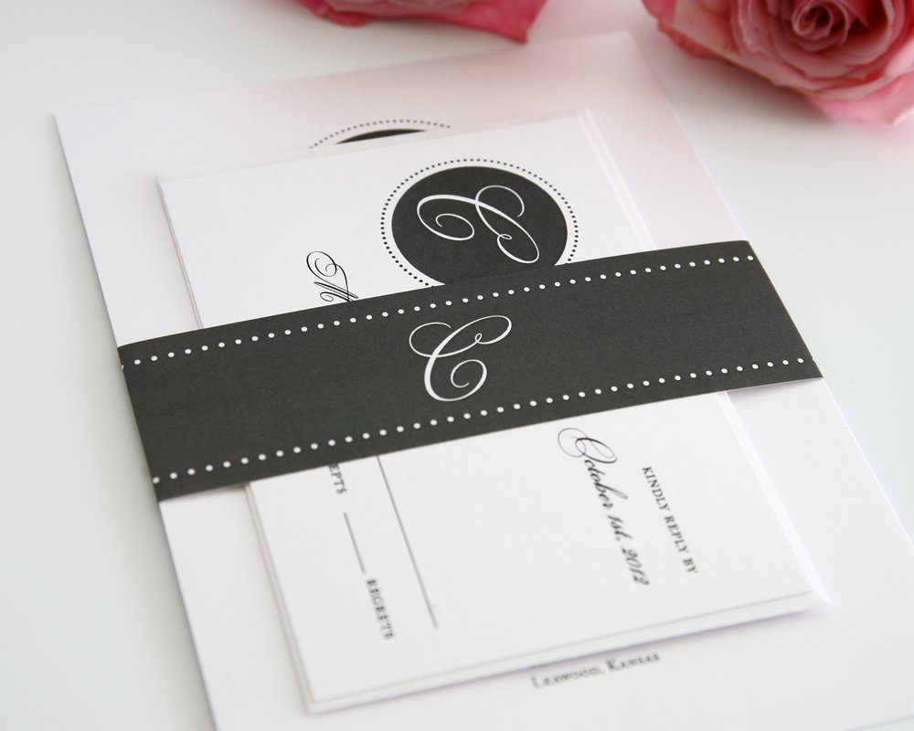 gray wedding invitation suite