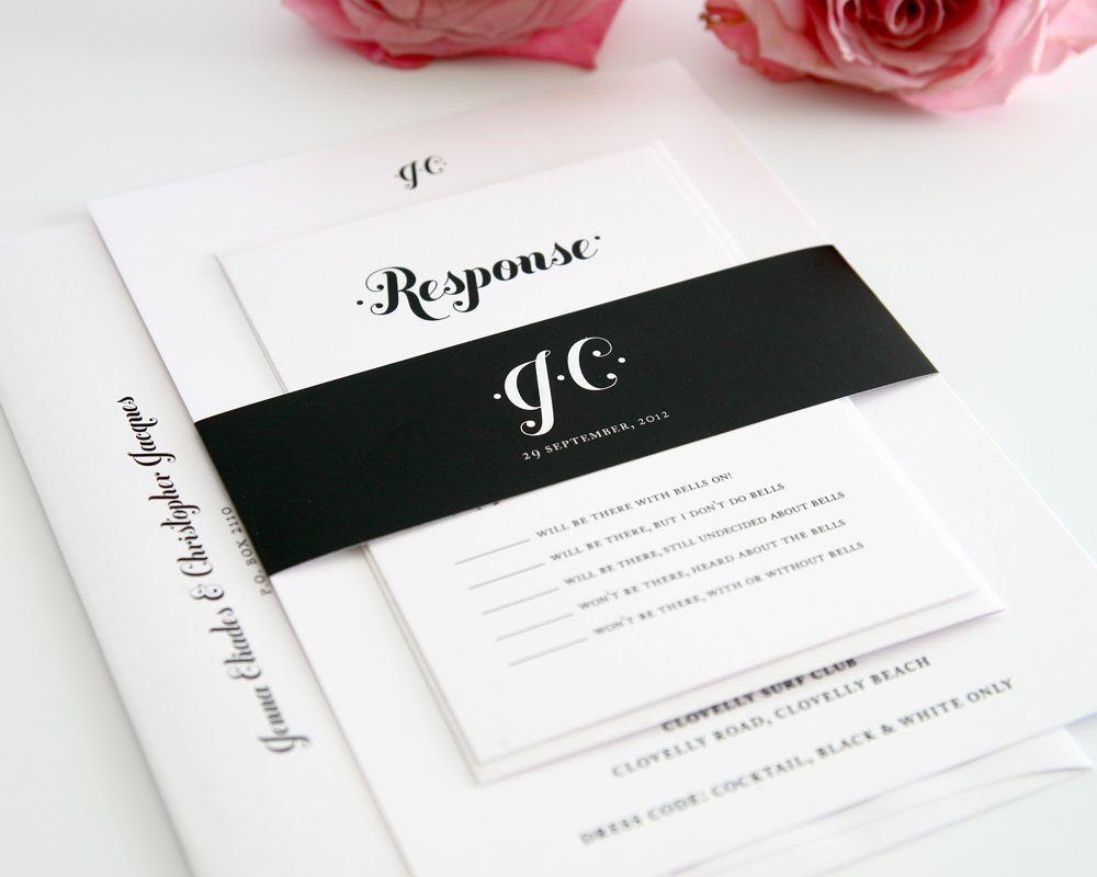 Black Wedding Invitations 81