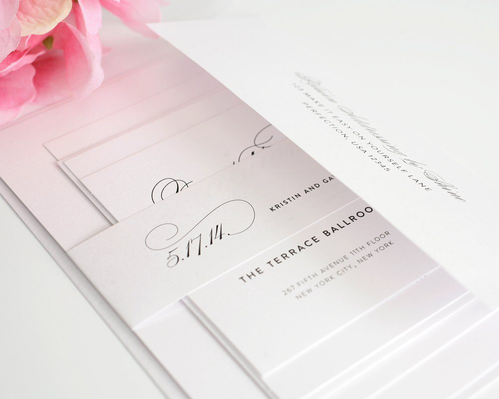 Wedding Invitations with Large Names in Calligraphy ...