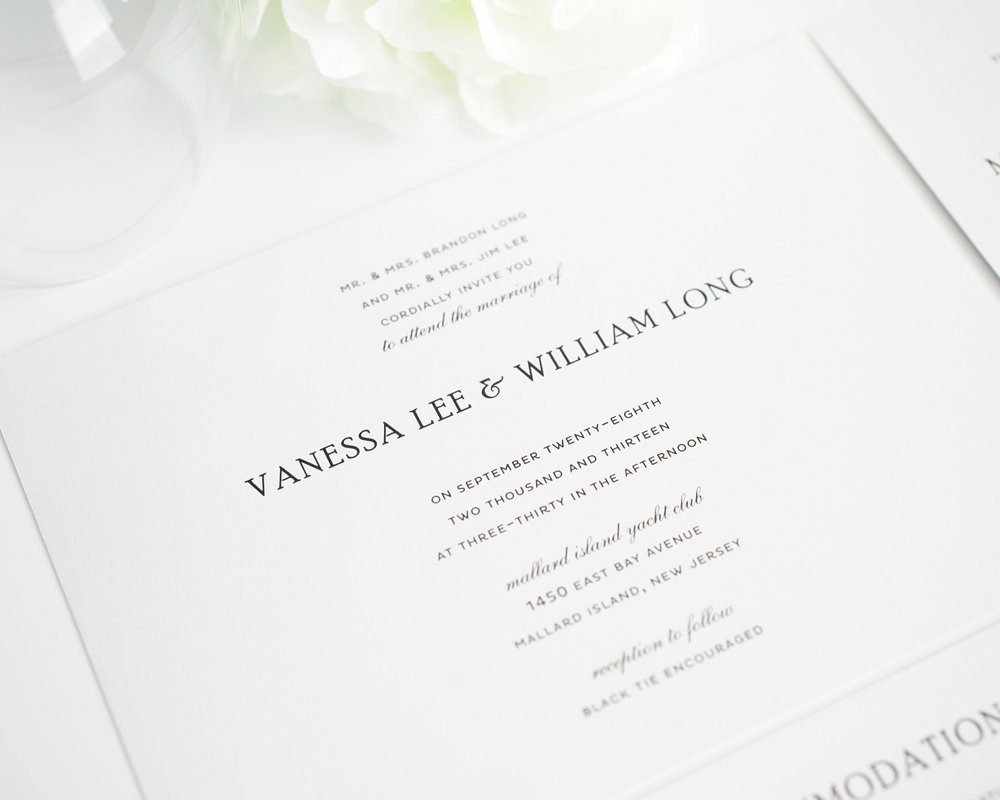 Traditional Wedding Invitations in Black and White ...