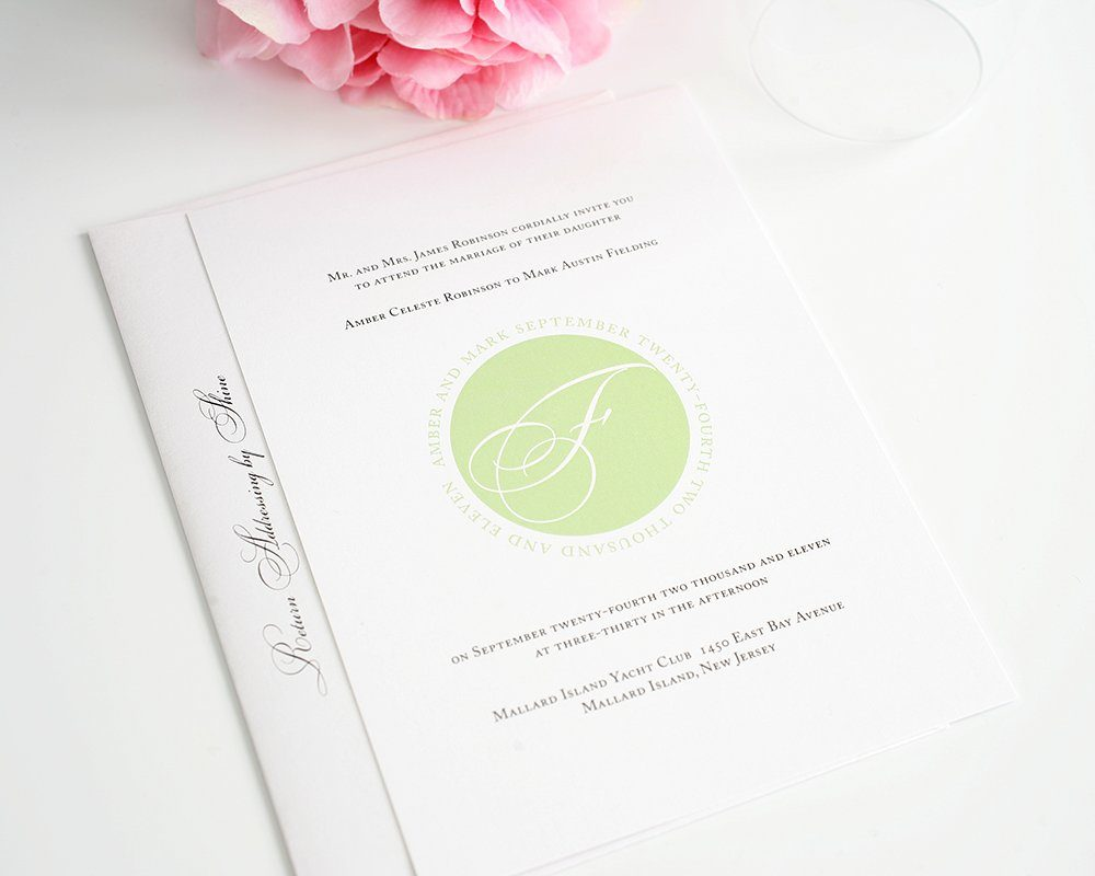 Elegant Wedding Invitation with Initial
