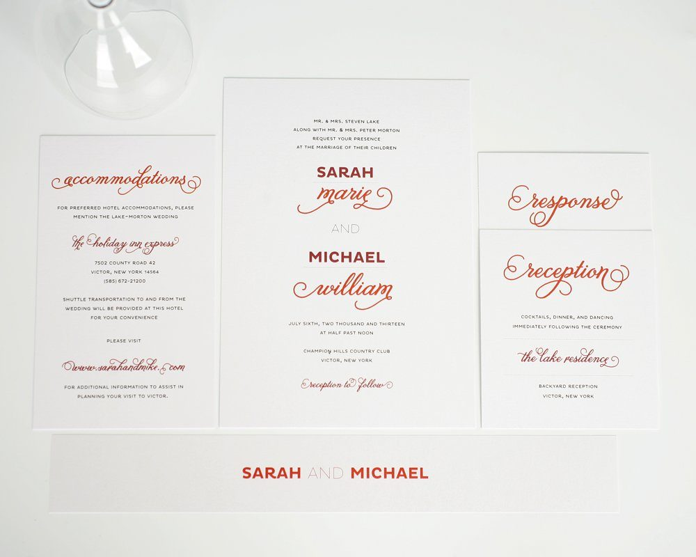 Modern Red Wedding Invitations
