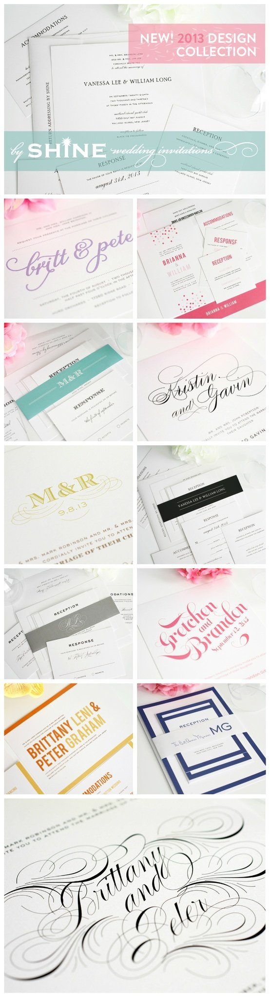 New Wedding Invitations 2013