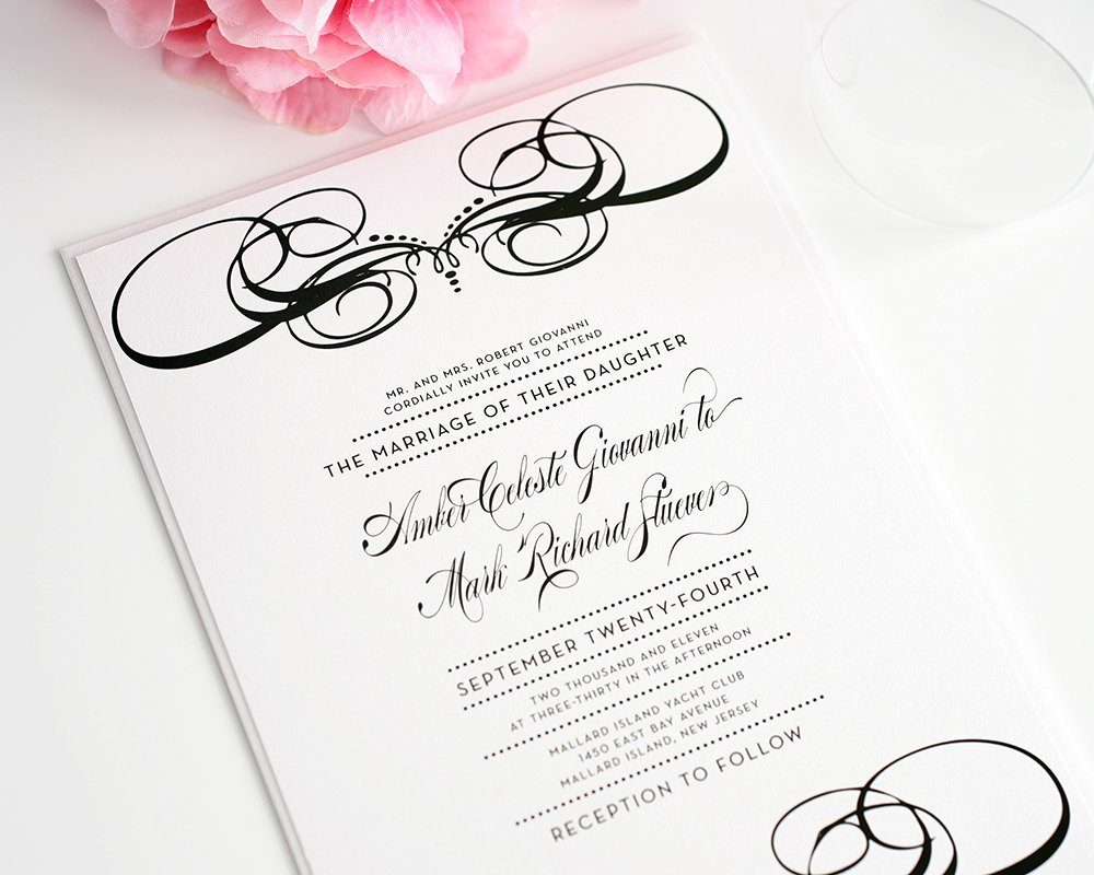 Unique Wedding Invitation Wording: Unique Wedding Invitations In Black And White