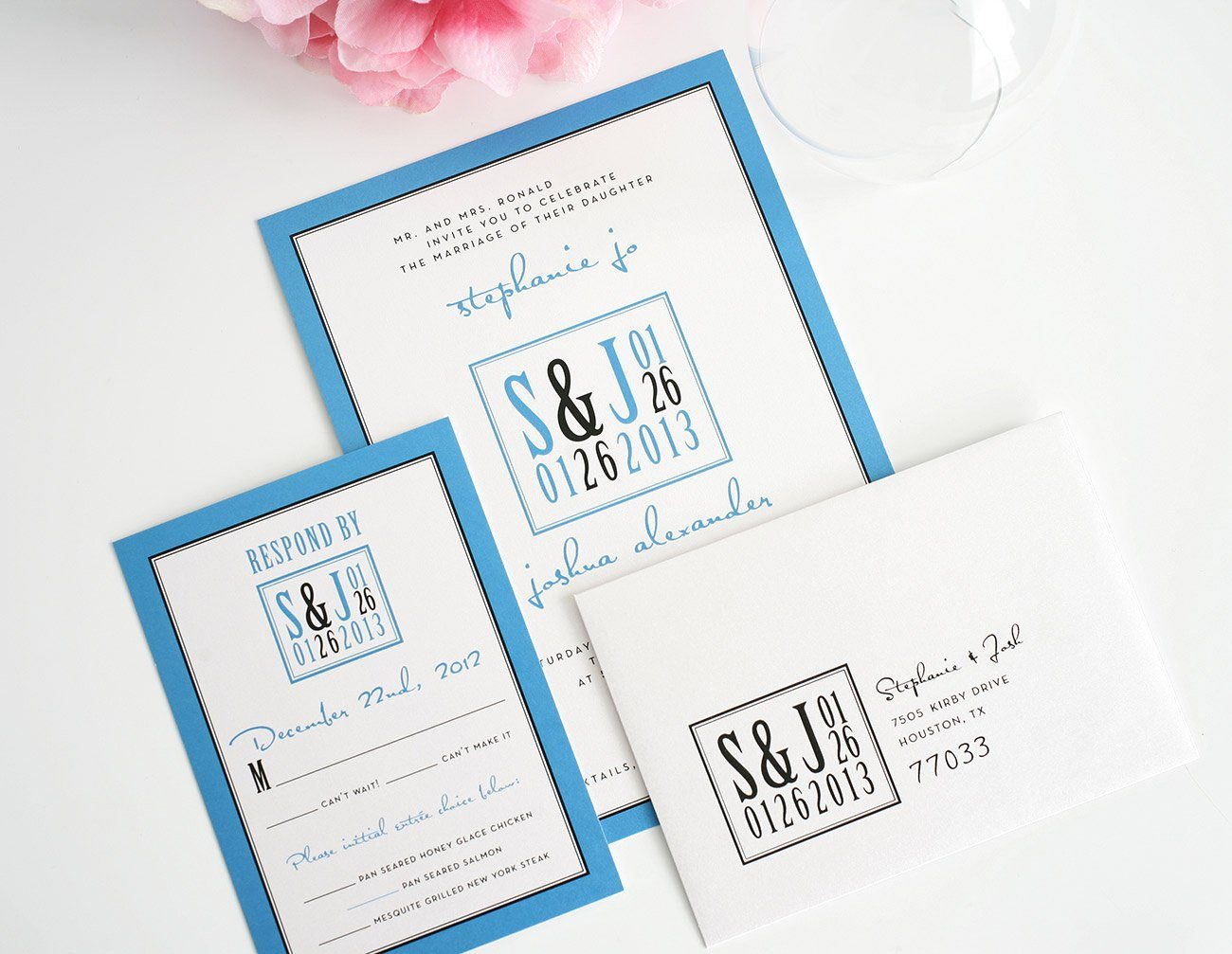 Electric Blue Wedding Invitations