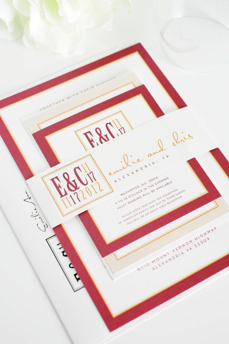 Fall Wedding Invitations and Red and Orange