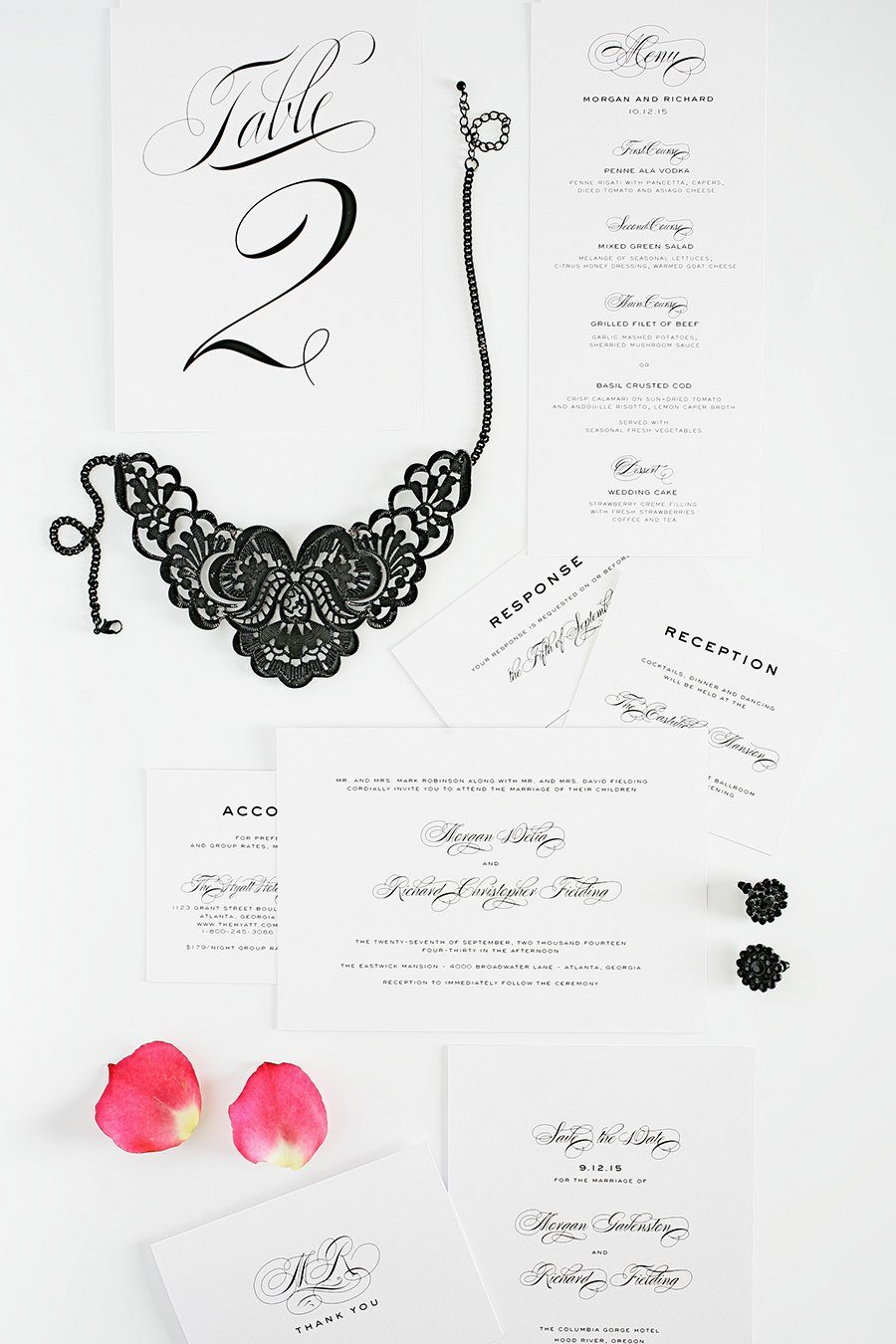 Classic and Modern Black Tie Wedding Invitations Wedding Invitations