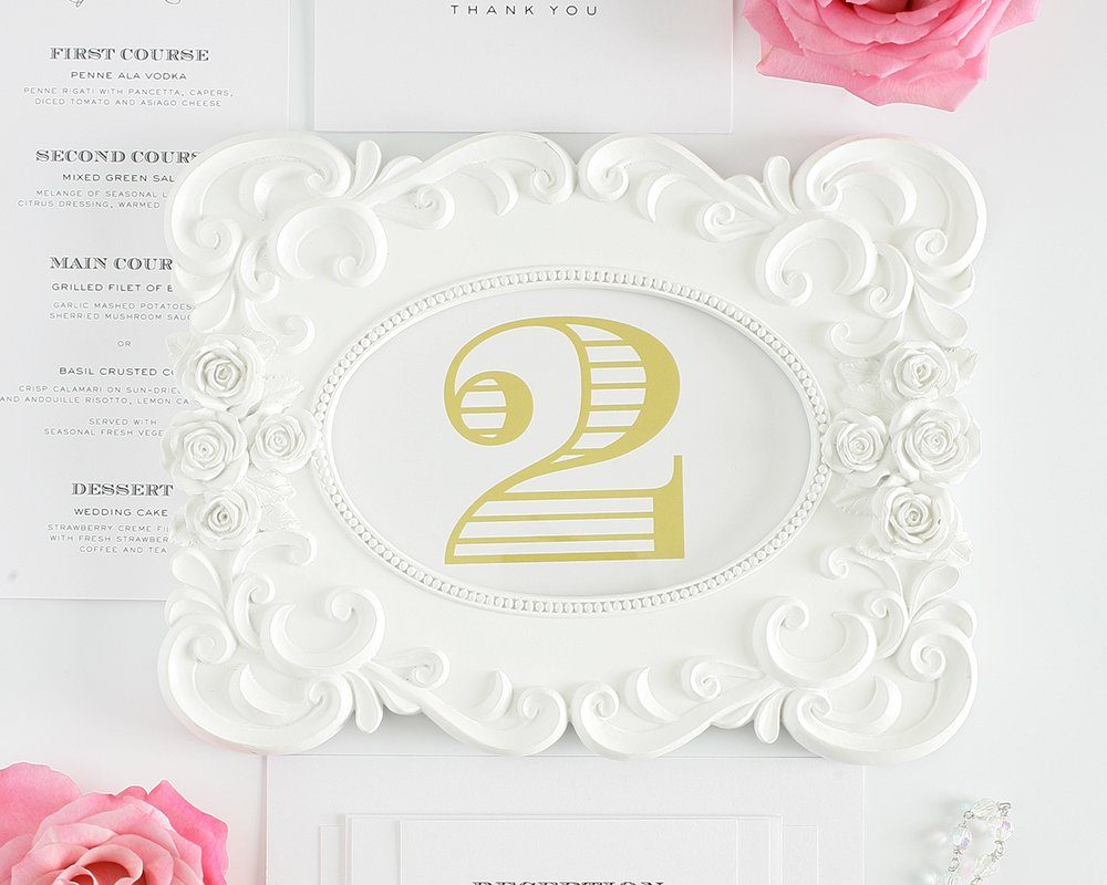 Wedding Table Numbers - Vintage Style, Engravers, Shaded Numbers