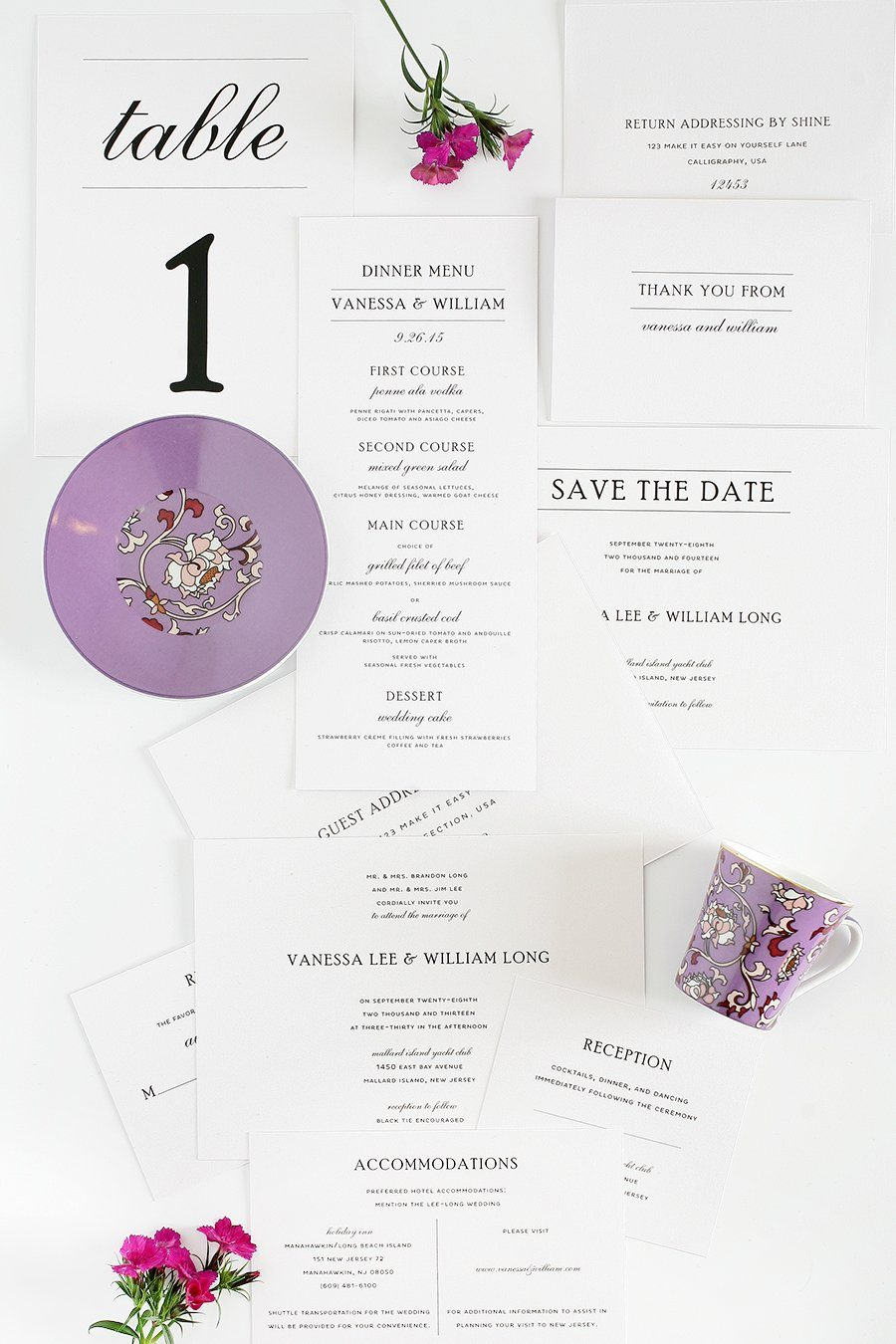 Vintage Wedding Invitations Package