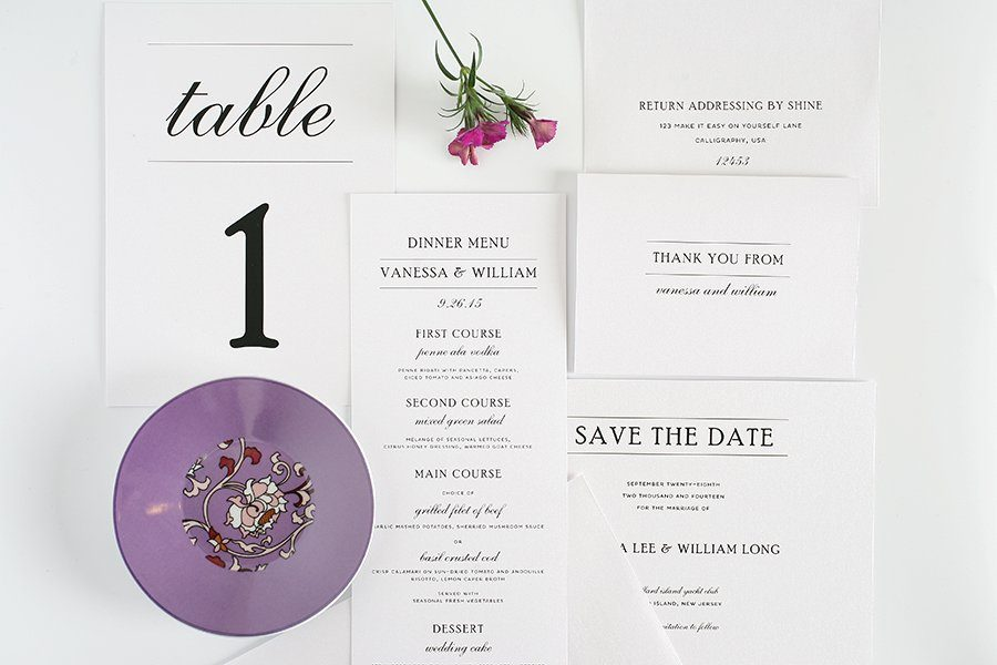 Wedding Invitation Accessories - Menu, Table Numbers, Save the Date