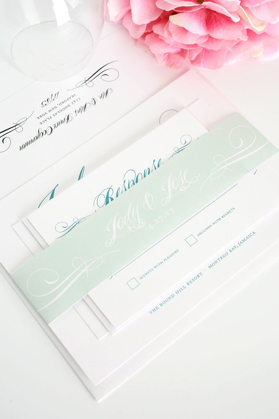 Mint Wedding Invitations