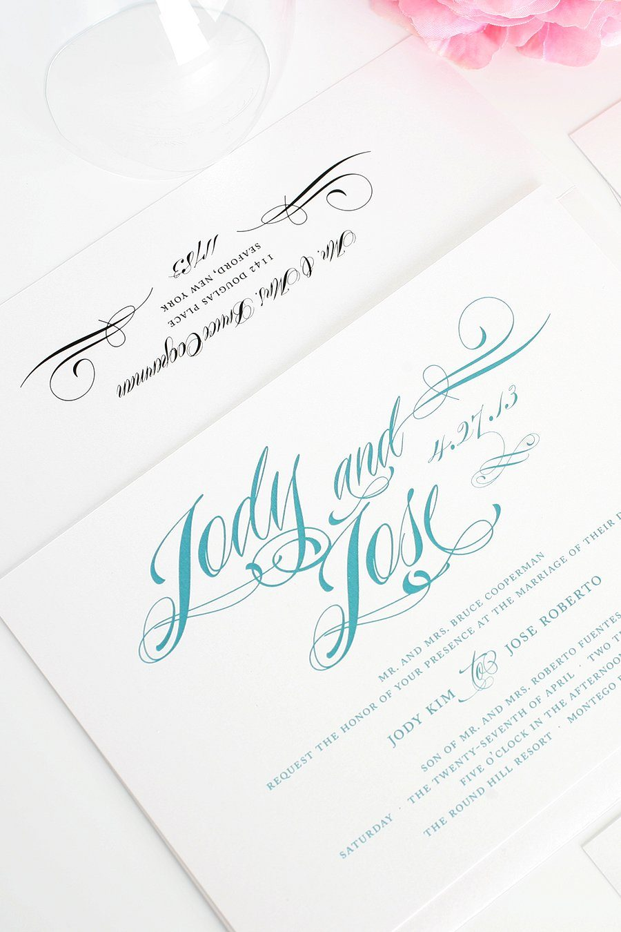Wedding Invitations with Script Names