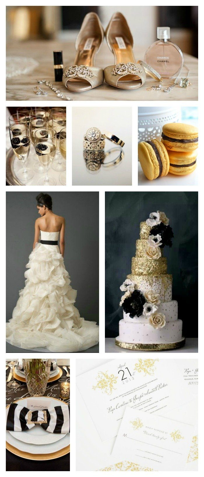 Gold and Black Wedding Inspiration