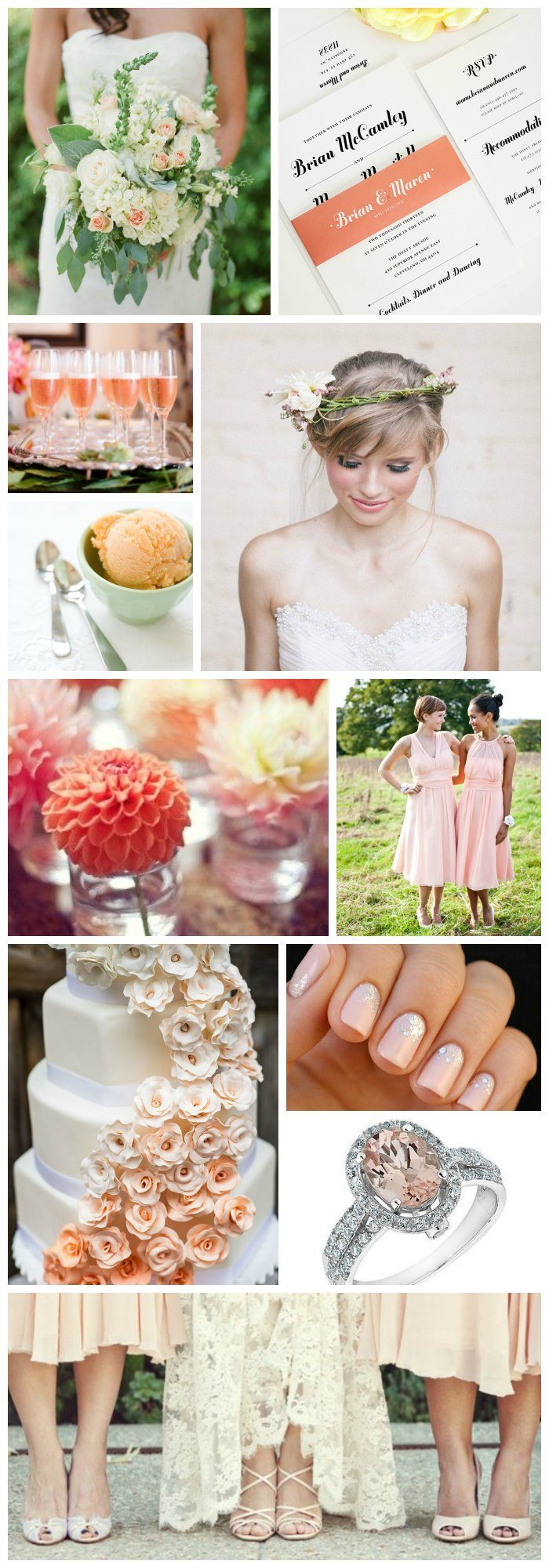 Wedding Inspiration in Peach