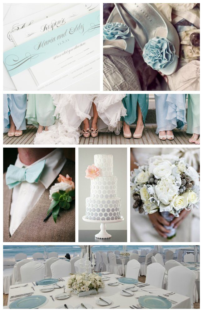 Mint and Gray Wedding