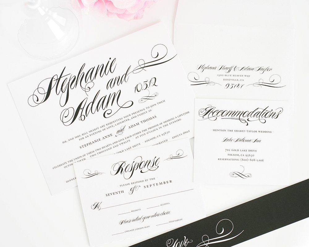 Wedding Invites in Black and White