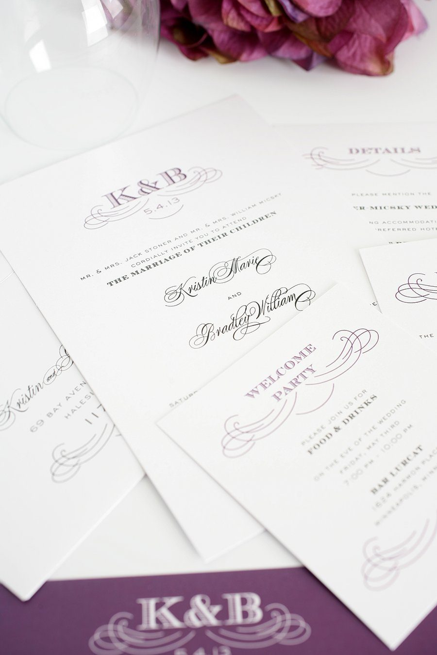 Eggplant Wedding Invitations