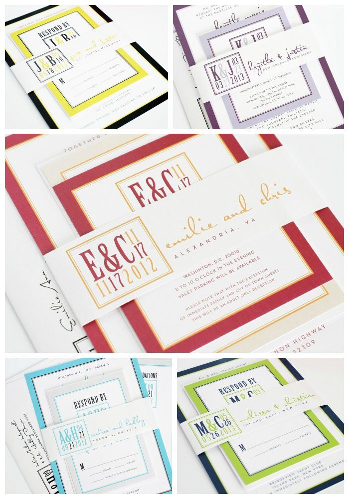 Wedding Invitations with a Modern Logo