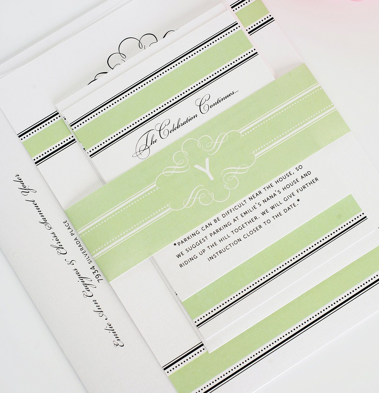 Wedding Invite in Green