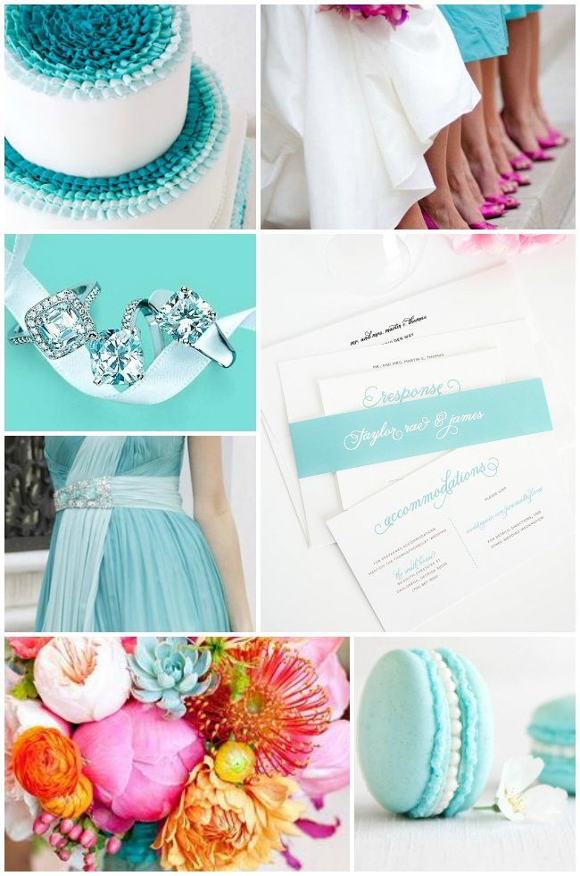 Tiffany Blue And Pink Wedding Inspiration Wedding