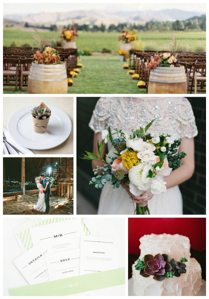 Wedding Insipration for a Rustic Theme