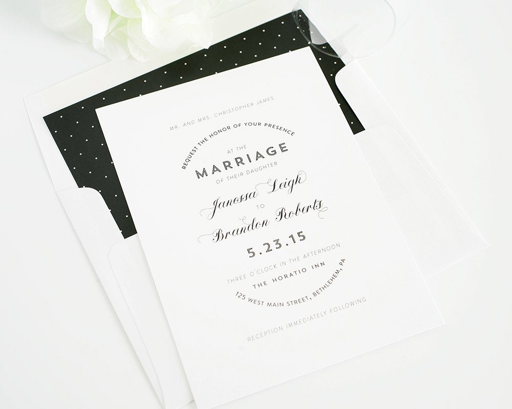 Wedding Invite with Polka Dots
