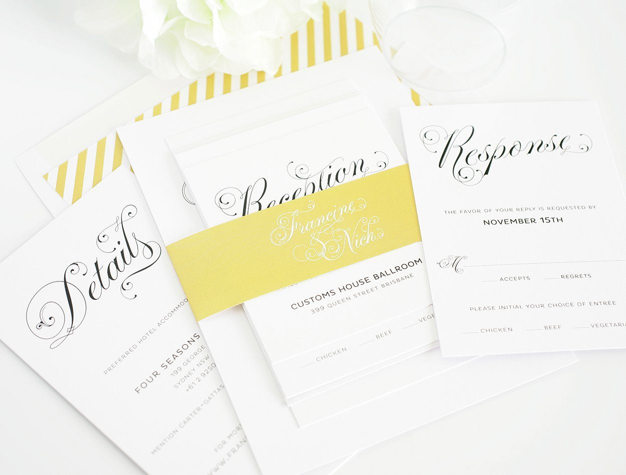 Glamorous Art Deco Wedding Invitations Wedding Invitations