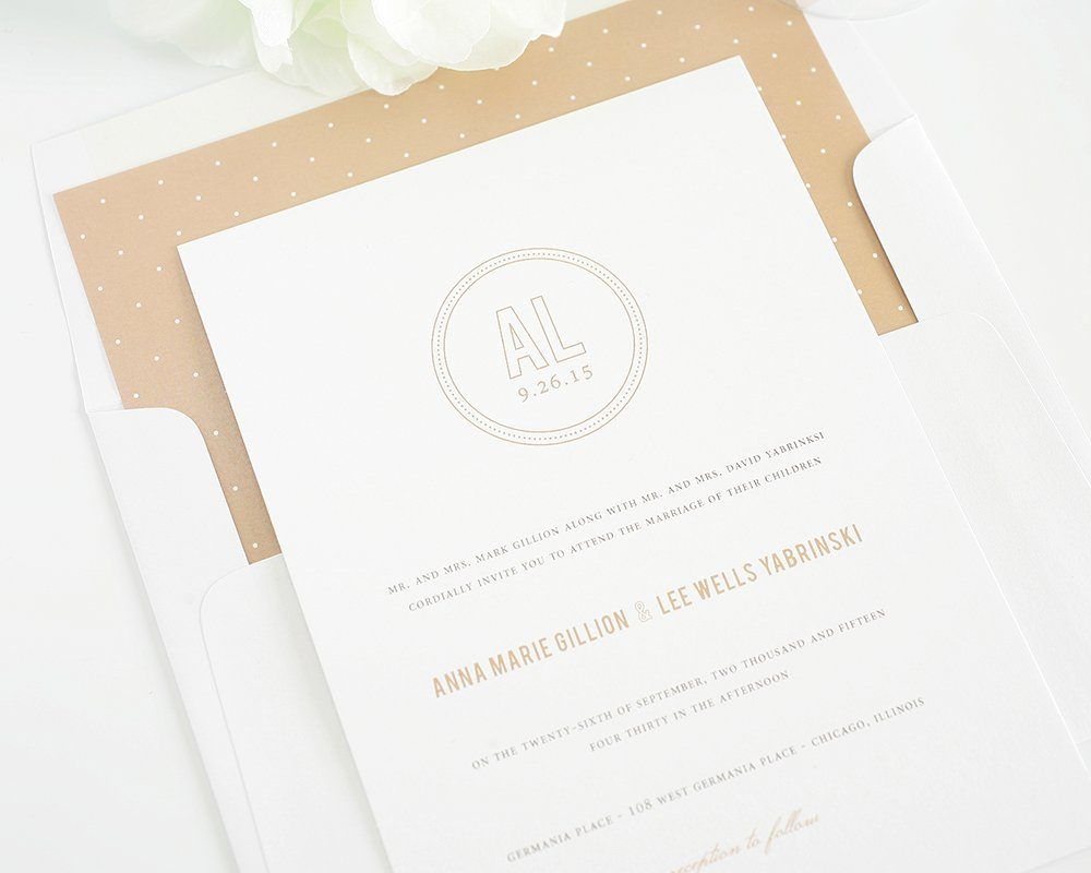 Neutral Wedding Invitation Design Wedding Invitations
