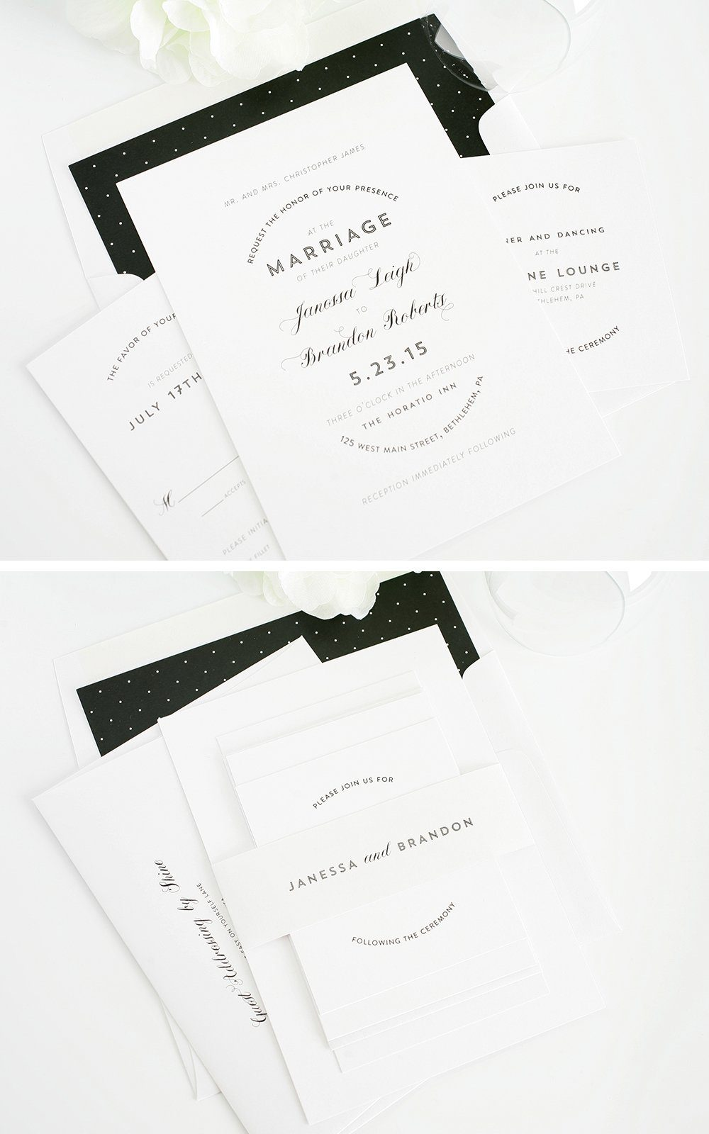 Wedding Invitations with a Modern Style
