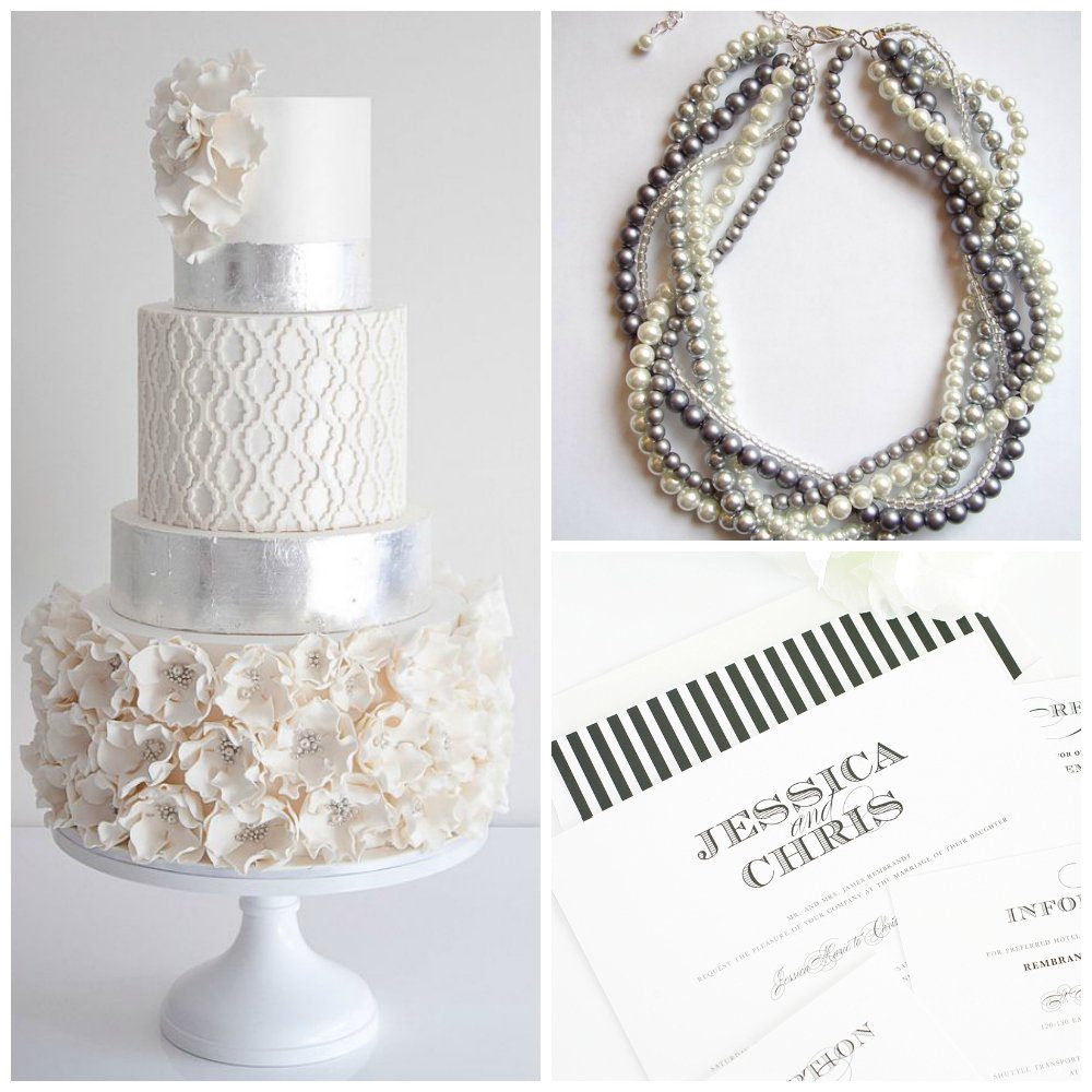 Wedding Inspiration in Silver