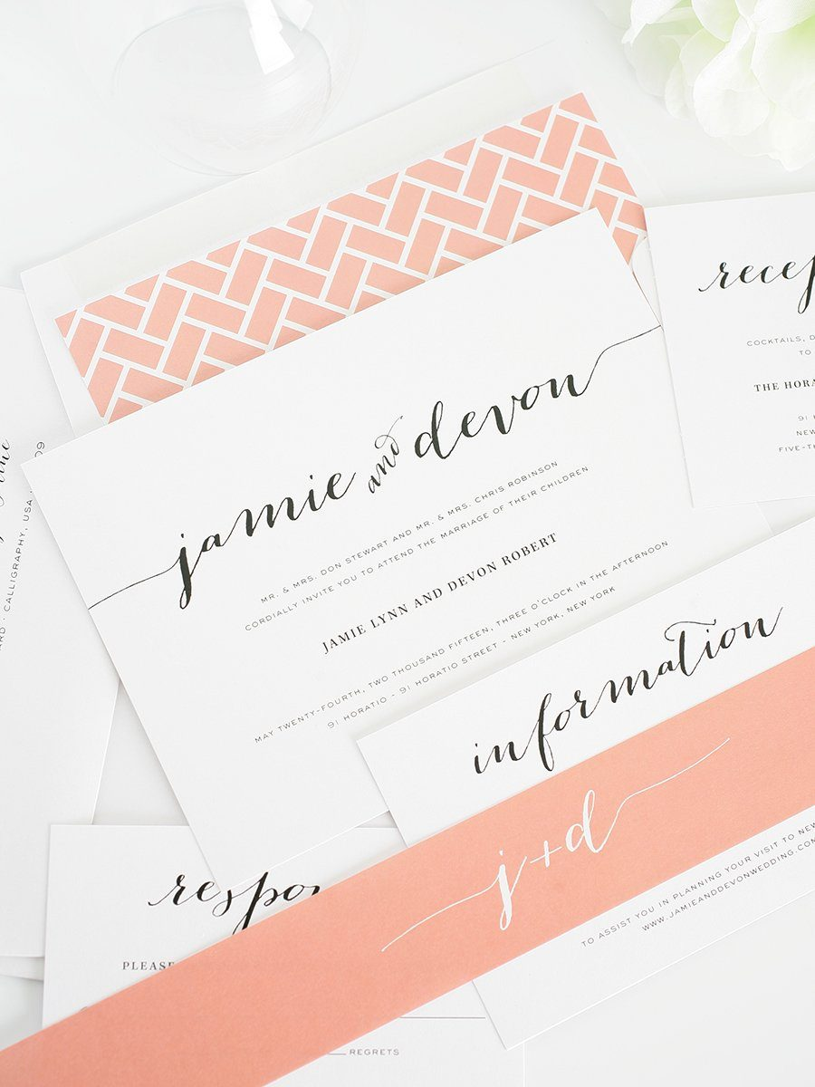 Chic Wedding Invitations