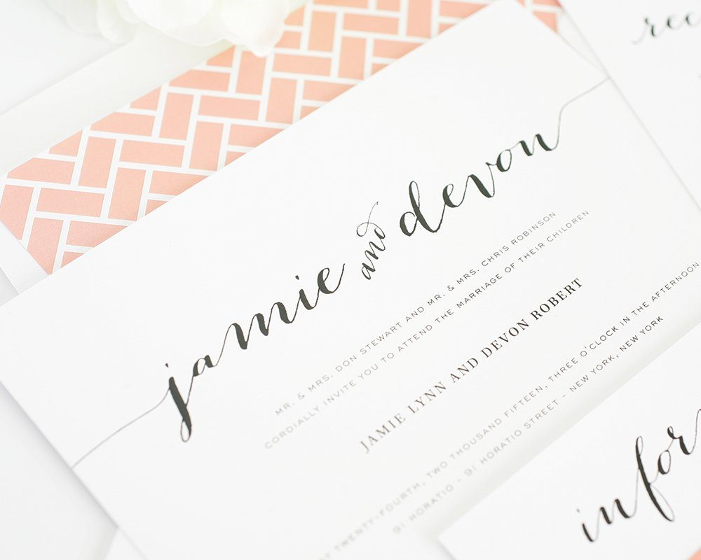 Script Names Wedding Invitations