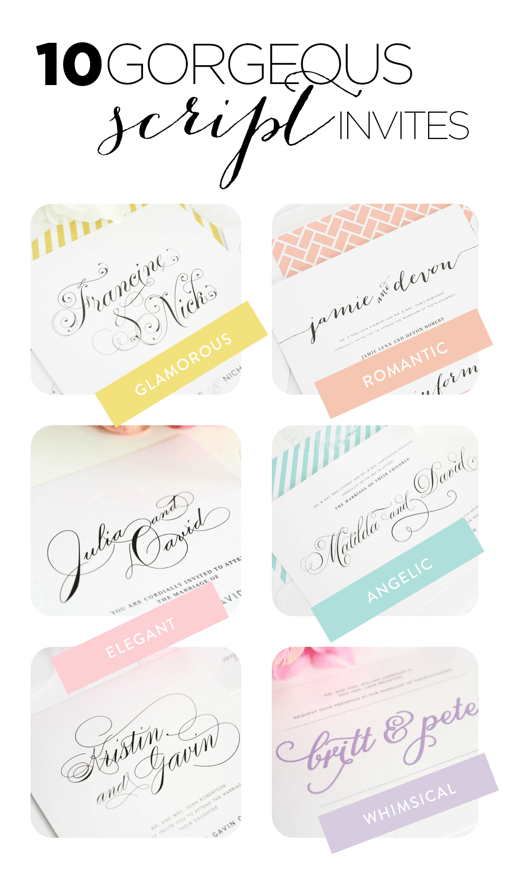Top 10 Script Wedding Invitations