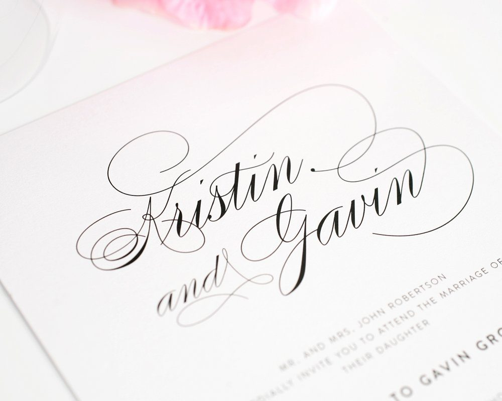top 10 wedding invitations with script handwritten wedding invitations Script Elegance Wedding Invitations