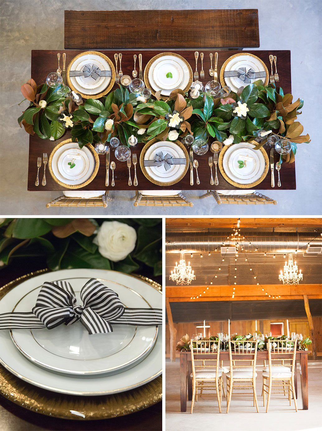 Wedding Table Setting and Centerpiece